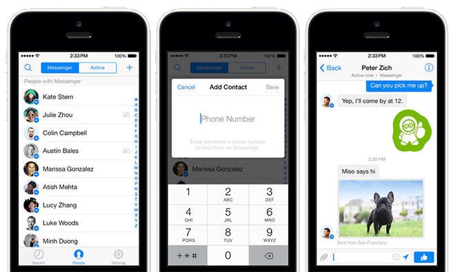 Facebook Messenger adds phone number integration, gets ...