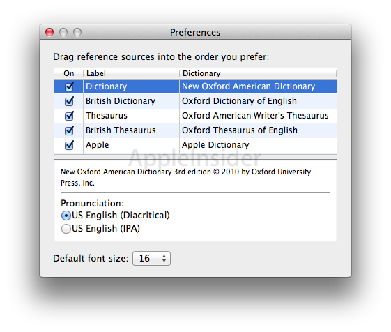 Inside Mac OS X 10.7 Lion: New dictionaries, multiple word views ...