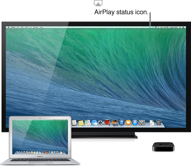 how to connect computer to airplay on tv