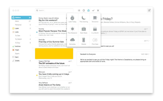 how to open the mailbox in mac desktop
