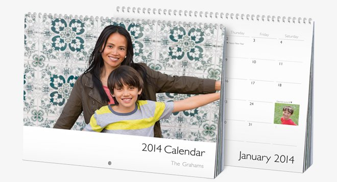 Organize your holiday iphone pictures into a photo book for Iphoto calendar templates