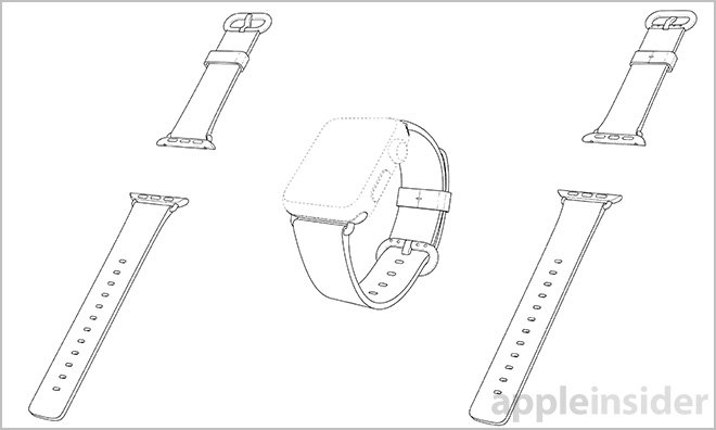 apple patents apple watch sport band  classic buckle and