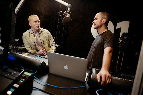 Eminem with Zane Lowe for his first show on Beats 1