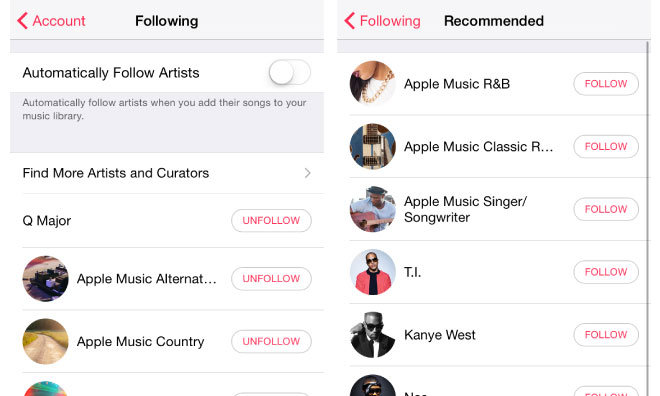 How to follow and get updates from your favorite artists in Apple Music Connect