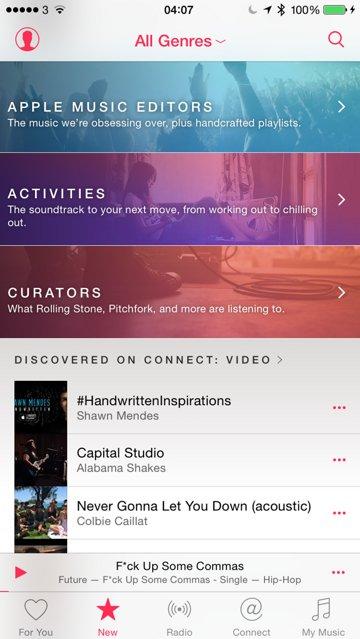 First Look: Apple's revamped Music app in iOS 8.4