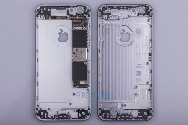 Photos of alleged 'iPhone 6s' chassis show revised internal layout, unchanged external design