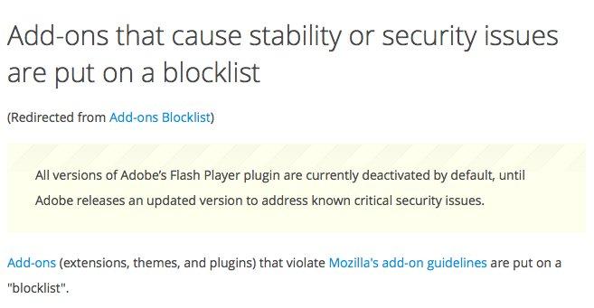 Bild zu «Firefox blockiert Flash nun standardmässig»