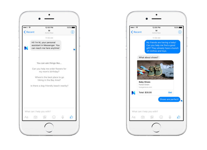 Facebook launches 'M' virtual assistant driven by both human and artificial intelligence