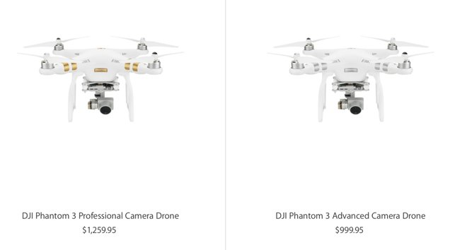 DJI's new iOS-compatible Phantom 3 drones land at Apple Store