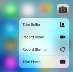 3D Touch Quick Actions