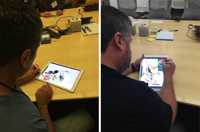 Disney animators test Apple's iPad Pro, reveal screen has roughed surface for drawing