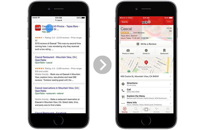 Google enables app indexing with deep linking for Safari in iOS 9