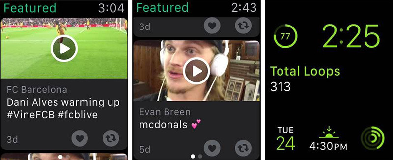 Vine launches on Apple Watch, adds new content discovery features for iPhone