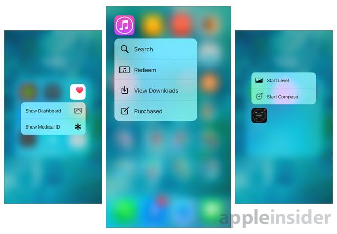 iOS 9.3 přinese nové šikovné 3D touch zkratky pro iPhony 6s