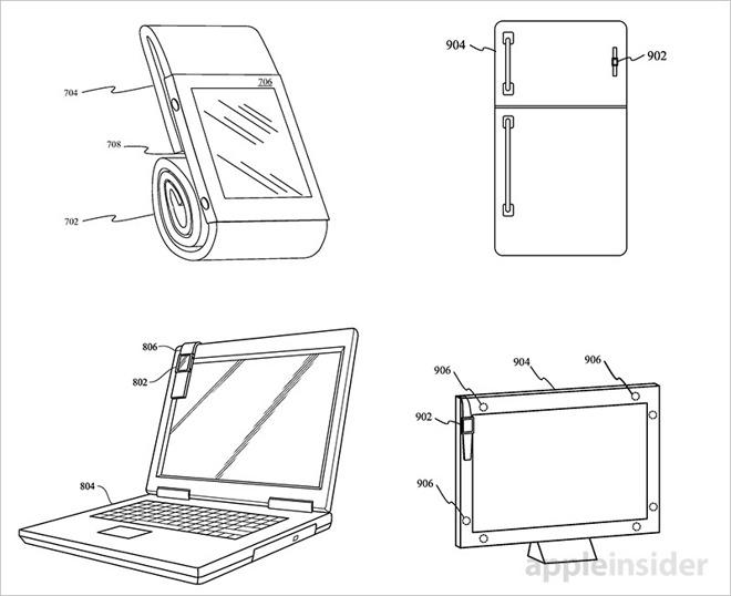 Apple si chce patentovat praktický magnetický řemínek pro Apple Watch, který by mohl fungovat i jako obal a stojánek