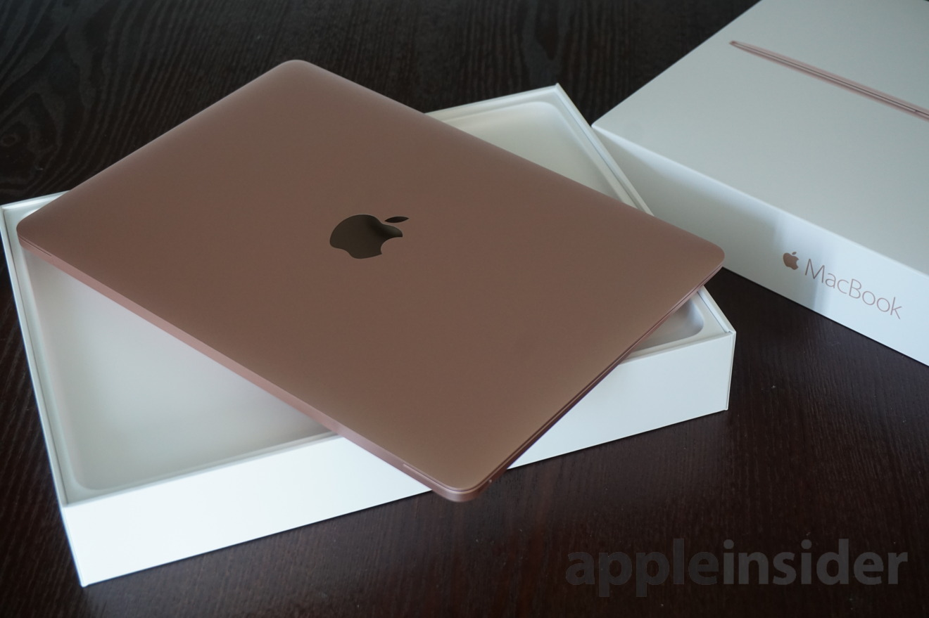 first look apple 39 s new rose gold 12 macbook with intel skylake cpu. Black Bedroom Furniture Sets. Home Design Ideas