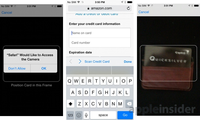 iOS 8 Safari now scans credit cards with iPhone camera, quick ...