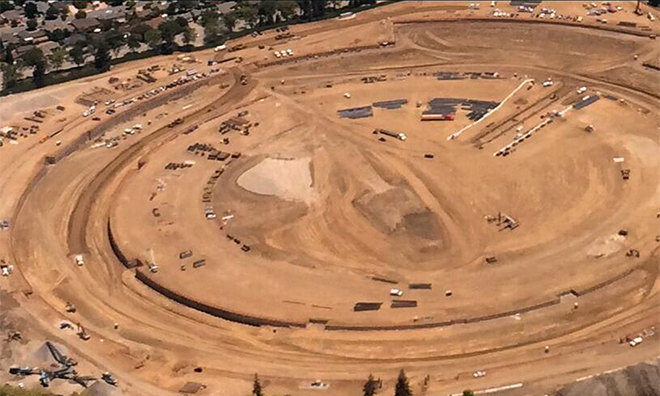 New aerial photos of Apple's Campus 2 show foundation work ...