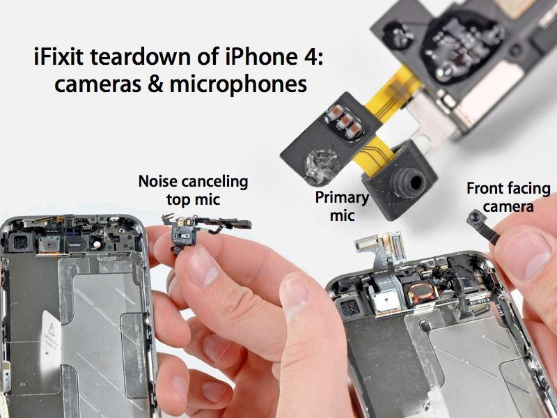 Где находится микрофон в айфон 4s