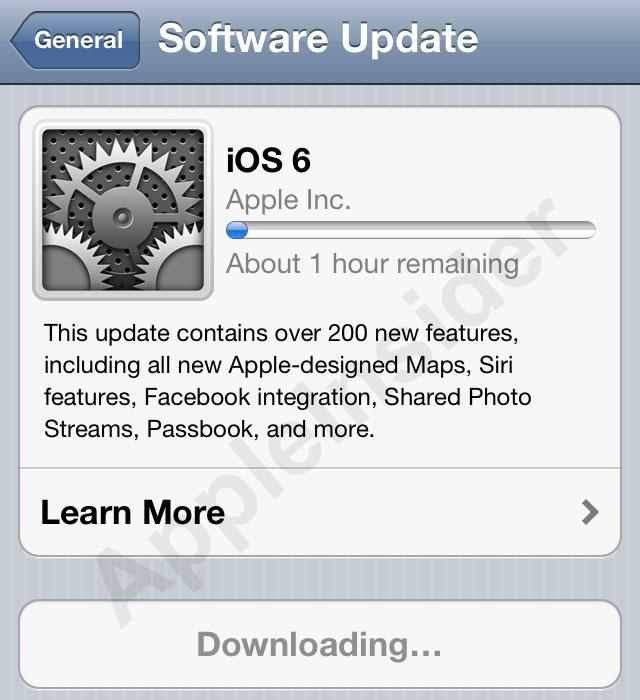 ios 6 final  apple