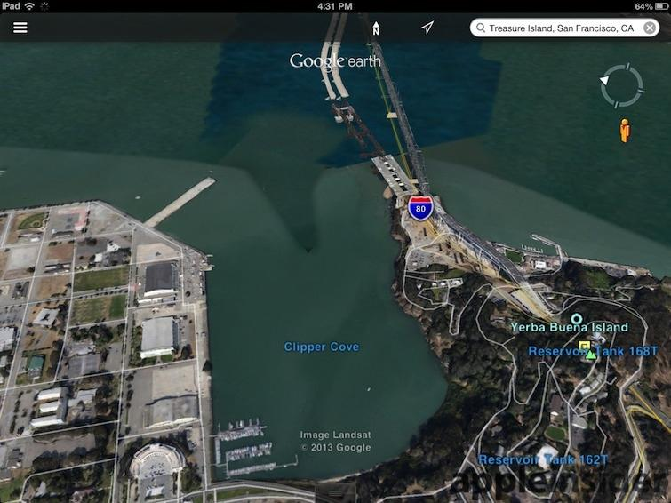 Treasure Island San Francisco Google Earth
