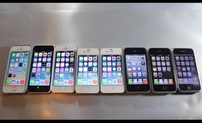 From first-gen iPhone to 5s, all eight models put to speed test